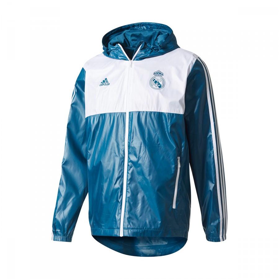 7de39f5101ded Jacket adidas Real Madrid WB 2017-2018 Blue-White - Football store ...