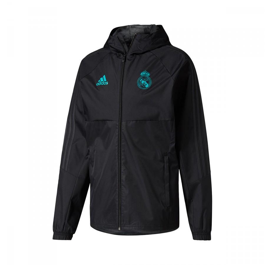 d3038200d9474 Jacket adidas Real Madrid 2017-2018 Black - Football store Fútbol ...