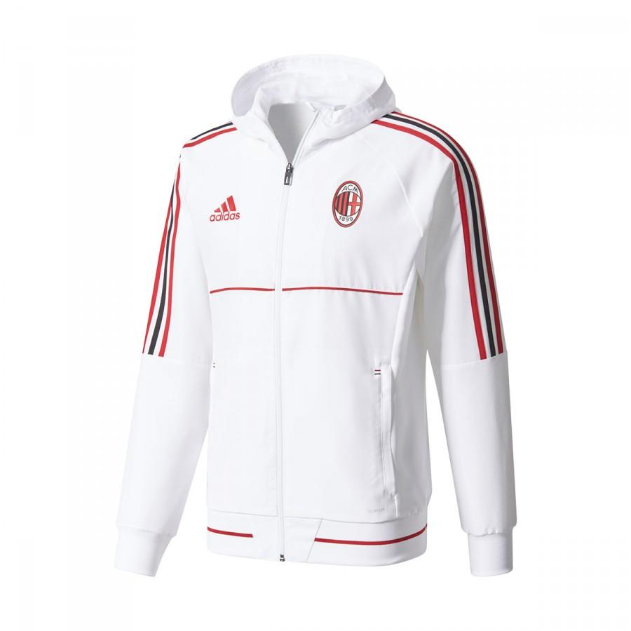 Chaqueta Milan 2017 Ac 2018 Match Pre White RL4q3j5A
