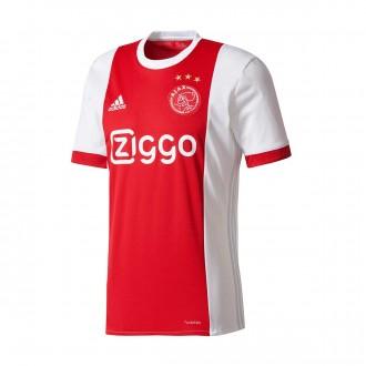 Camisola  adidas Ajax Principal 2017-2018 White-Bold red