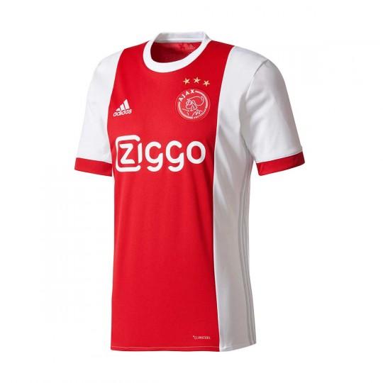Camiseta  adidas Ajax Primera Equipación 2017-2018 White-Bold red