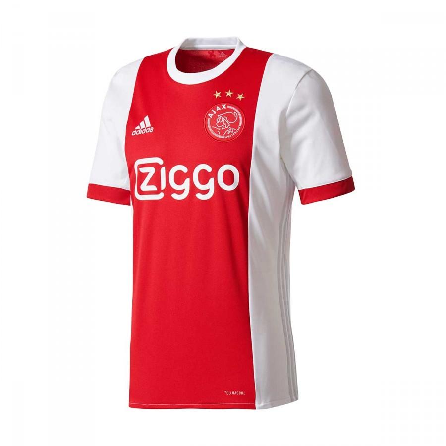 c1719be1c Camisola adidas Ajax Principal 2017-2018 White-Bold red - Loja de futebol  Fútbol Emotion