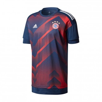 Camiseta  adidas FC Bayern Munich Primera Equipación Training 2017-2018 Black-Red
