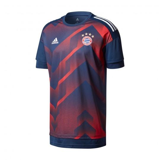Camiseta  adidas FC Bayern Munich Primera Equipación Training 2017-2018 Black-Red