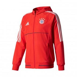 Casaco  adidas FC Bayern Munich Pre-Match 2017-2018 Red