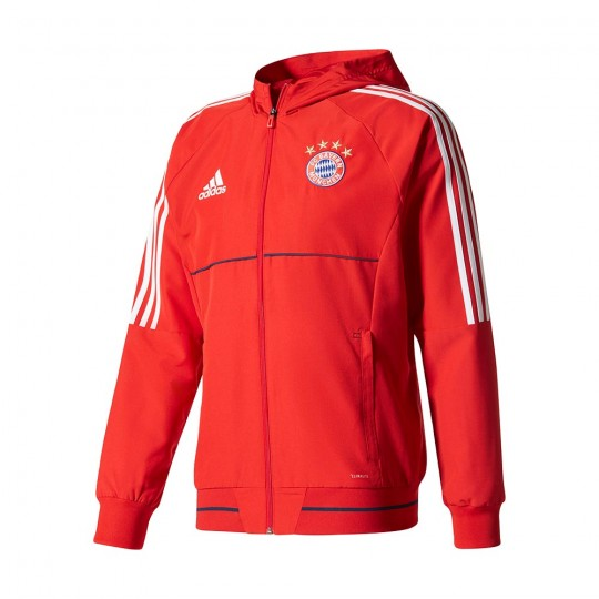 Chaqueta  adidas FC Bayern Munich Pre-Match 2017-2018 Red