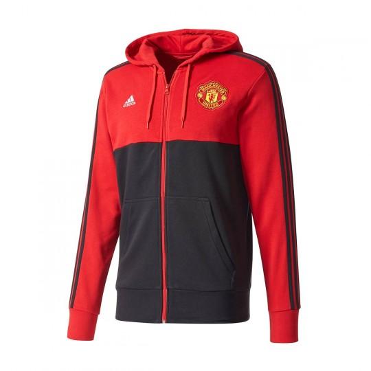 Casaco  adidas Manchester United FC FZ HD 2017-2018 Black-Red