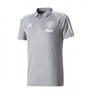 Polo  adidas Manchester United FC 2017-2018 Grey