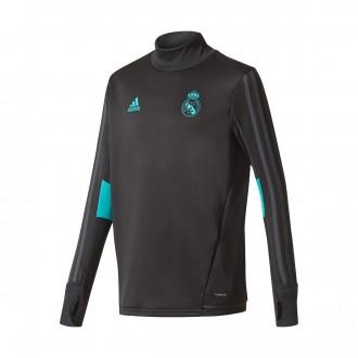 Sweatshirt  adidas Jr Real Madrid Training Top 2017-2018 Black-Aero reef