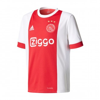 Camisola  adidas Jr Ajax Principal 2017-2018 White-Bold red