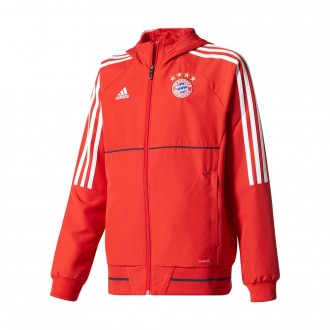 Chaqueta  adidas FC Bayern Munich Pre-Match 2017-2018 Niño True red-White