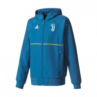 Casaco  adidas Jr Juventus Pre 2017-2018 Blue night-Bold gold