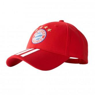 Boné  adidas FC Bayern Munich 3S 2017-2018 True red-White
