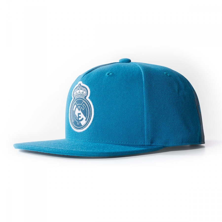 b64a73d530d21a Cap adidas Real Madrid Flat 2017-2018 Vivid teal-White - Leaked soccer