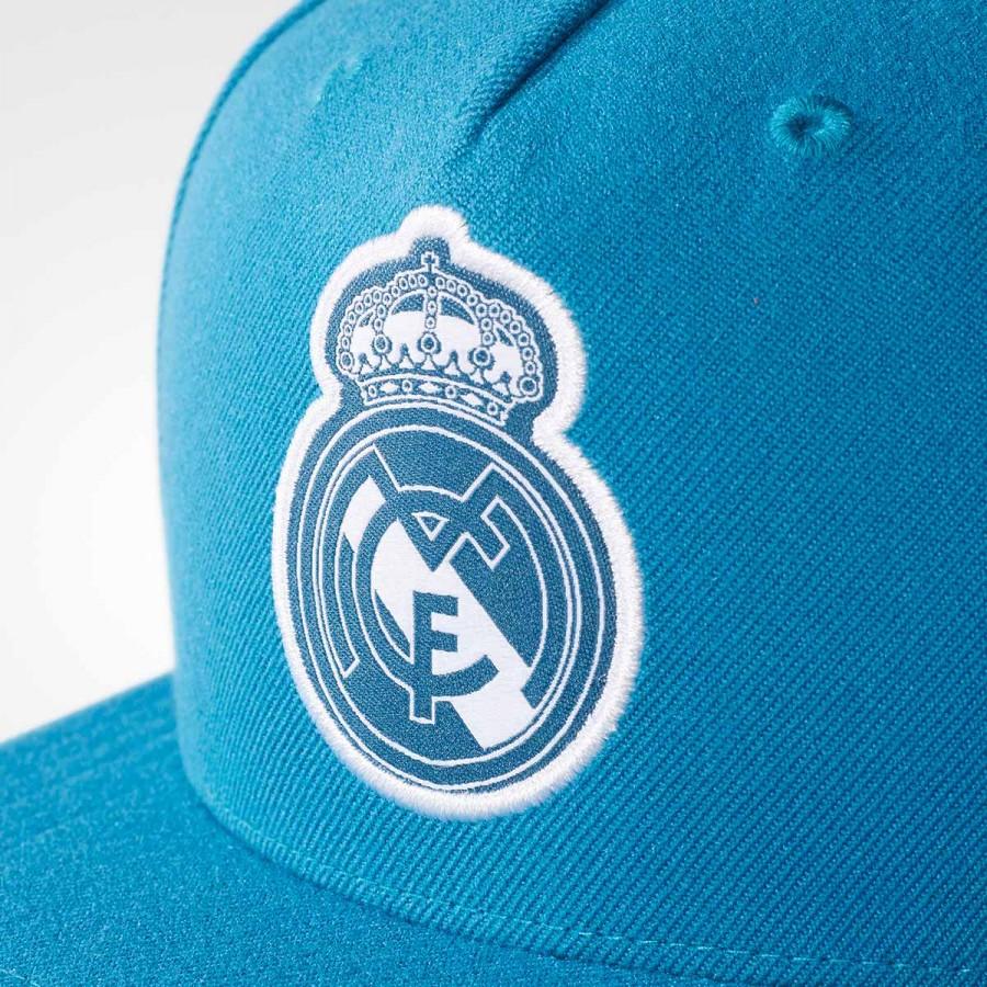c6fd389d Cap adidas Real Madrid Flat 2017-2018 Vivid teal-White - Tienda de fútbol  Fútbol Emotion