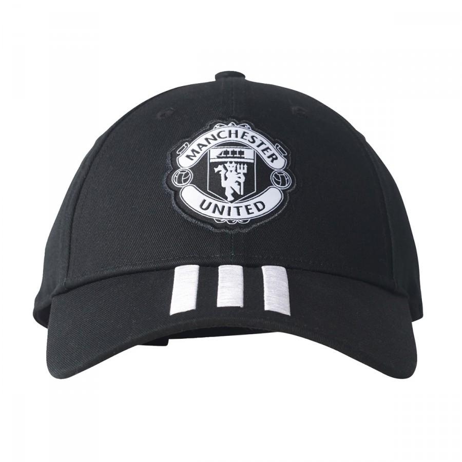 Cap adidas Manchester United FC 3S 2017-2018 Black-Whte - Football ... a4bf3fb20cc