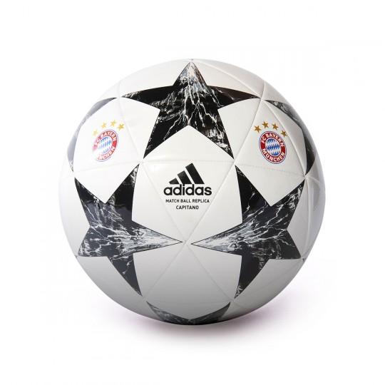 Balón  adidas FC Bayern Munich Finale 17 CPT 2017-2018 White-Black-Crystal white-Cinder