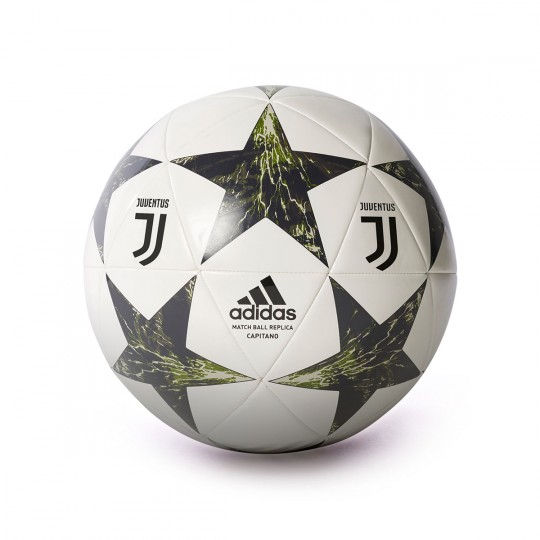 Bola de Futebol  adidas Juventus Finale 17 CPT 2017-2018 White-Night grey-Craft green-Sesame