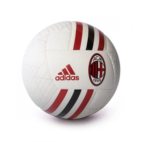 Bola de Futebol  adidas AC Milan 2017-2018 White-Black-Victory red-Silver metallic