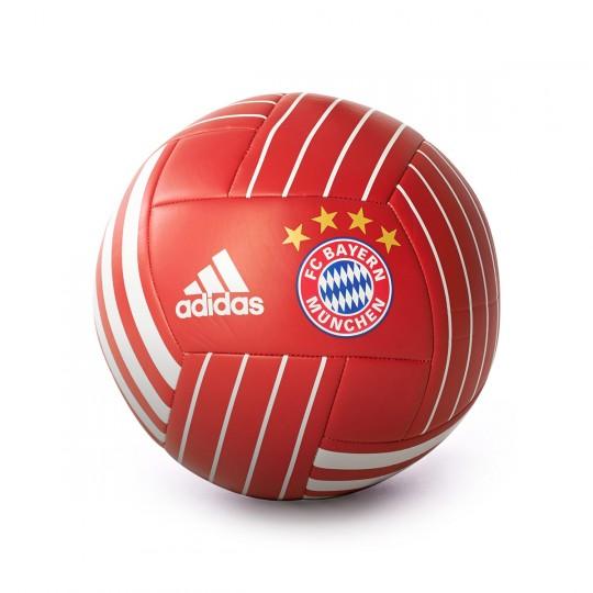 Balón  adidas FC Bayern Munich FBL 2017-2018 True red-White
