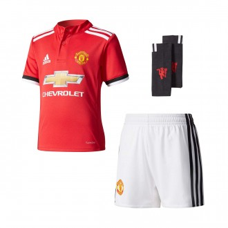 Conjunto  adidas Mini Manchester United FC Primera Equipación 2017-2018 Real red-White-Black