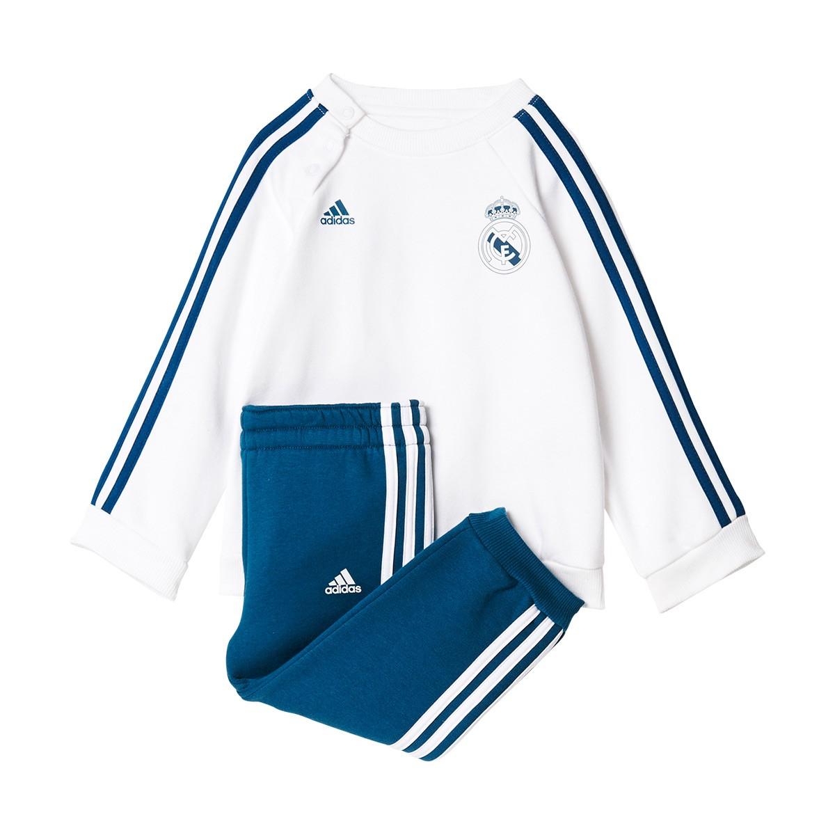 1c710c5ae Chándal adidas Bebé Real Madrid 3S 2017-2018 White-Petrol night - Tienda de  fútbol Fútbol Emotion