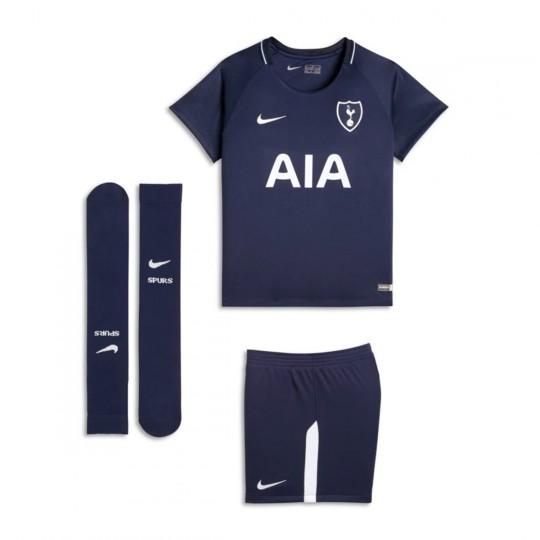 Conjunto  Nike Tottenham Segunda Equipación 2017-2018 Binary blue-White