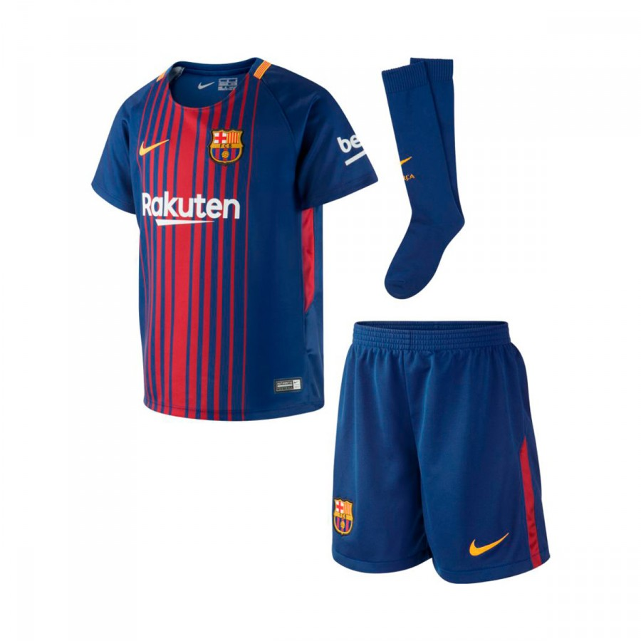 092cf874197a4 Kit Nike Kids Barcelona FC 2017-2018 Deep royal blue-University gold -  Football store Fútbol Emotion