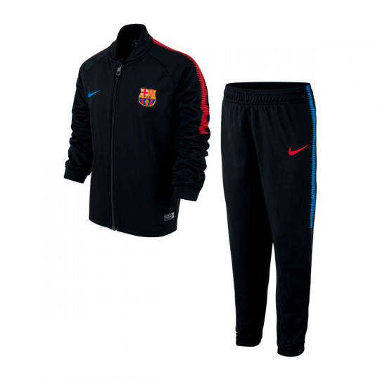 Chándal  Nike FC Barcelona Dry Squad 2017-2018 Niño Black-University red-Soar