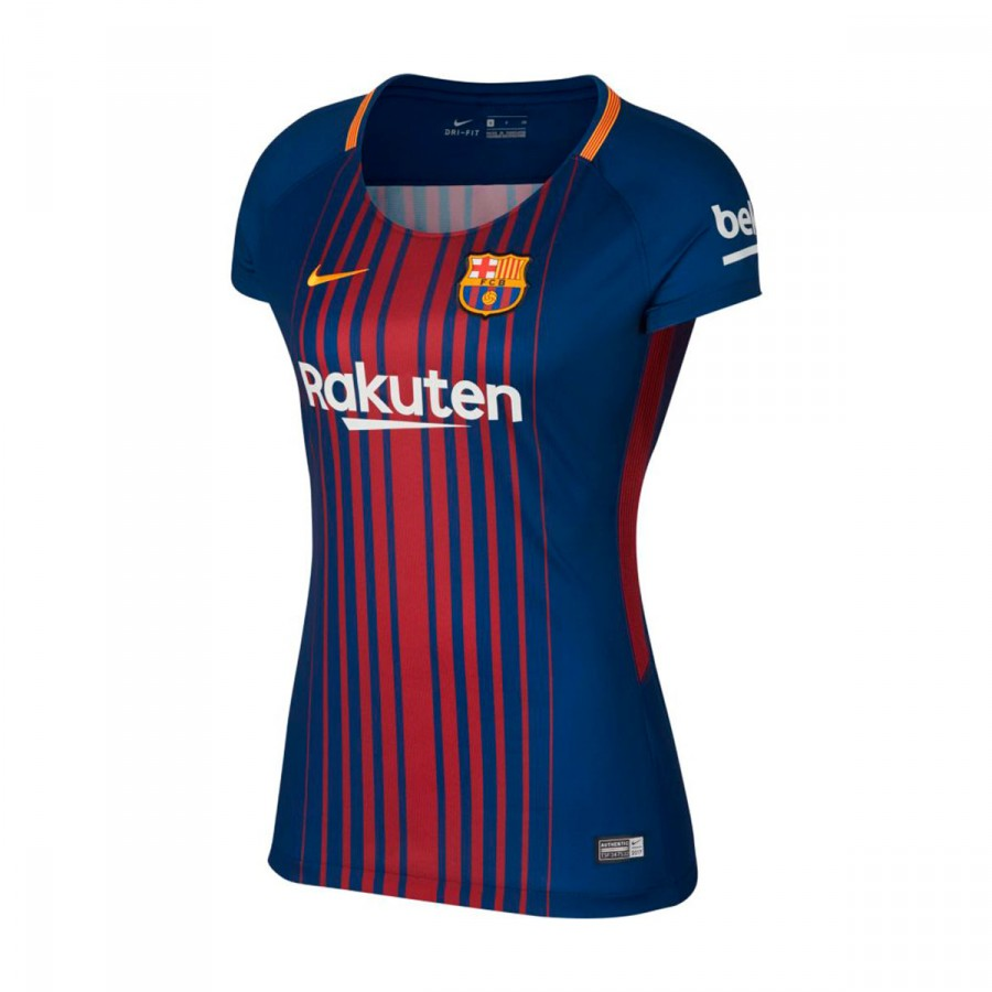 new product 8fbd8 a0b0f Camiseta FC Barcelona Dry Stadium Primera Equipación Mujer 2017-2018 Deep  royal blue-University gold