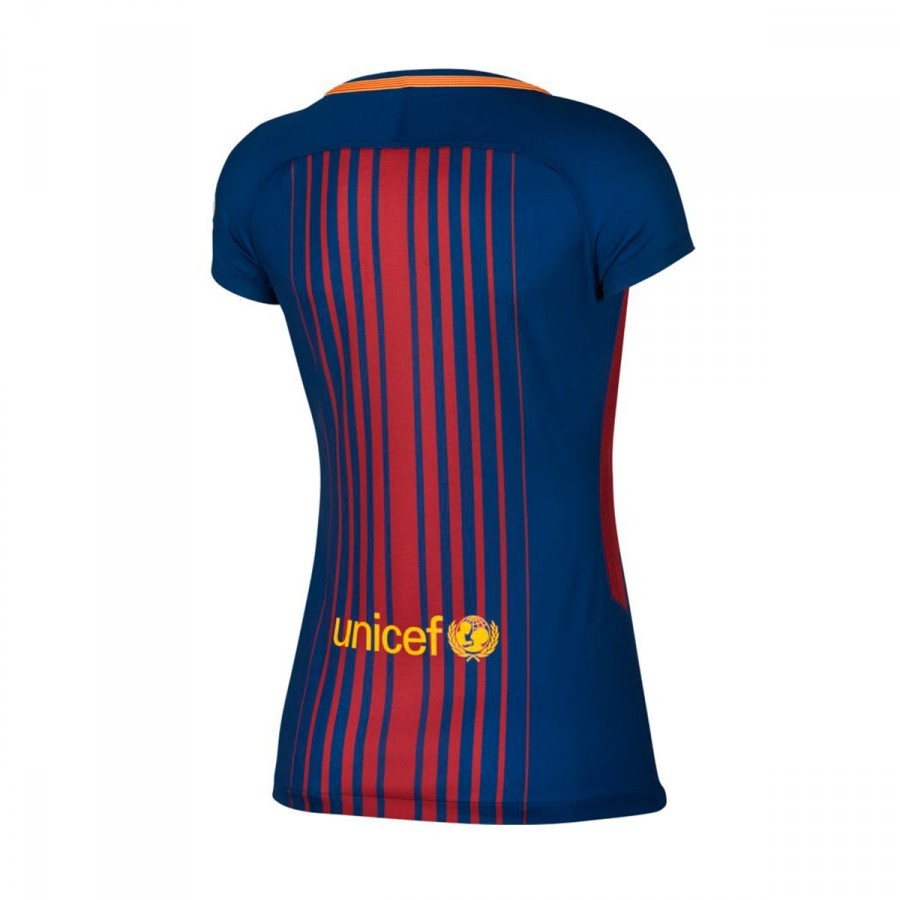 new product 7c664 69a83 Camiseta FC Barcelona Dry Stadium Primera Equipación Mujer 2017-2018 Deep  royal blue-University gold