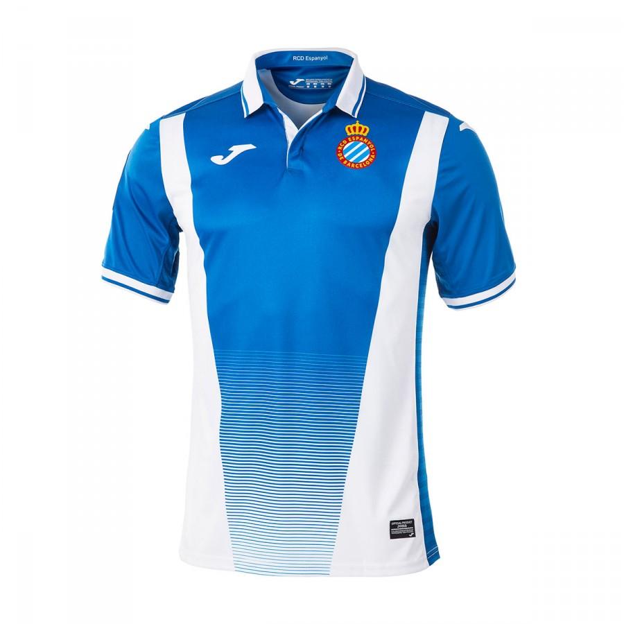 Camiseta Joma RCD Espanyol Primera Equipación 2017-2018 Azul-Blanco ... 11d2007790fd4