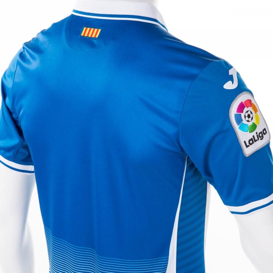 Camiseta Joma RCD Espanyol Primera Equipación 2017-2018 Azul-Blanco ... a7680534e5fa3