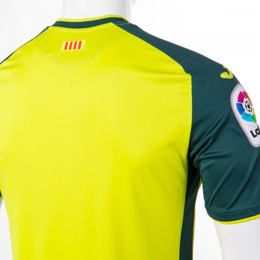 f448358530384 Playera Joma RCD Espanyol Tercera Equipación 2017-2018 Verde-Amarillo -  Tienda de fútbol Fútbol Emotion