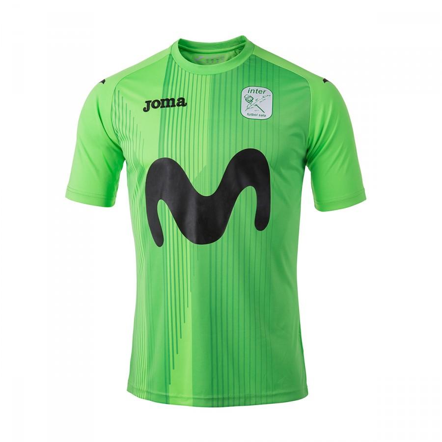 Camiseta Joma Movistar Inter FS Segunda Equipación 2017-2018 Verde -  Soloporteros es ahora Fútbol Emotion 1681dc986168f
