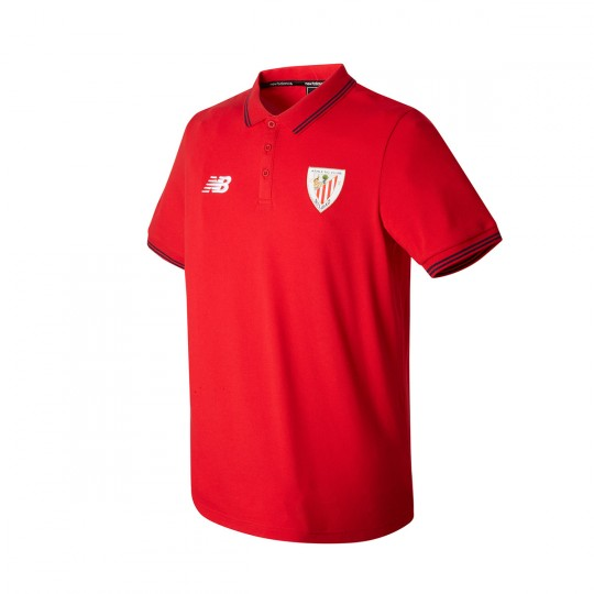 Polo  New Balance AC Bilbao Piqué MC 2017-2018 Red
