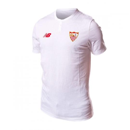 Camiseta  New Balance Sevilla FC MC Algodón 2017-2018 White