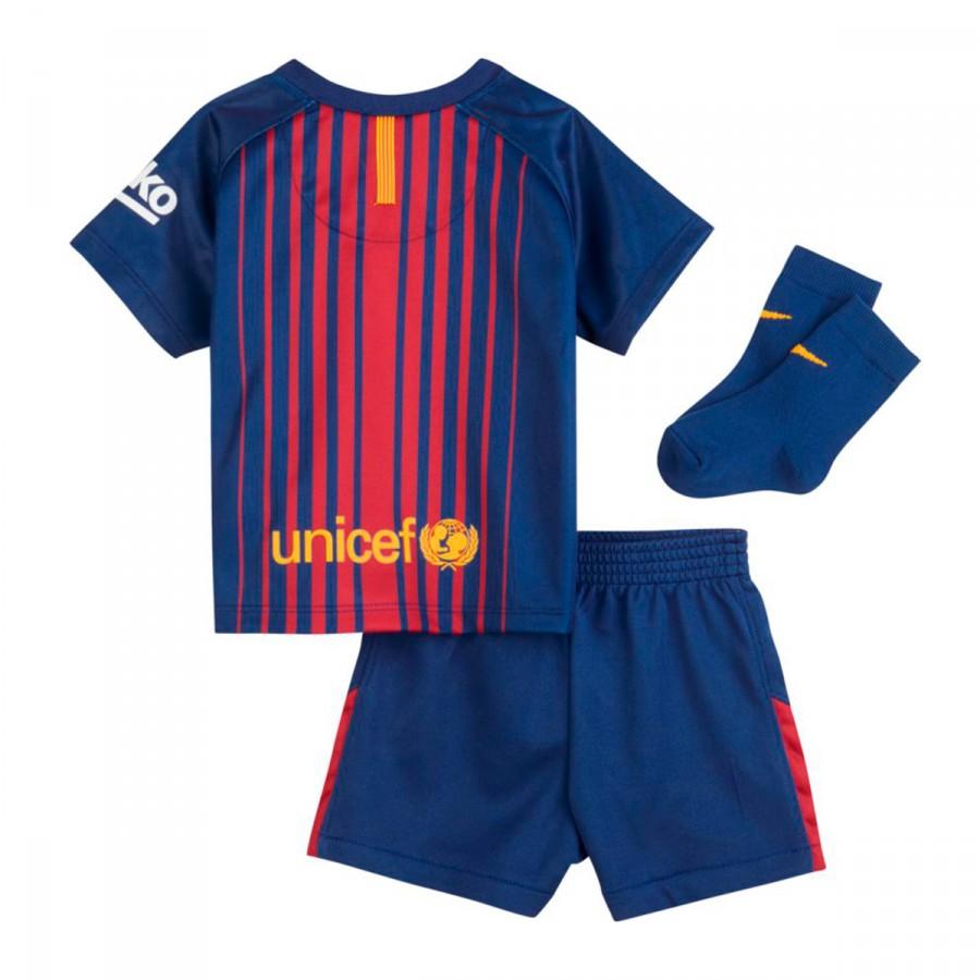 Nike Infant Barcelona FC Home 2017-2018 Kit. Deep royal blue-University ... c0224559ee9