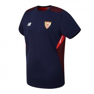 Camisola  New Balance Sevilla FC MC Training 2017-2018 Azul Marinho