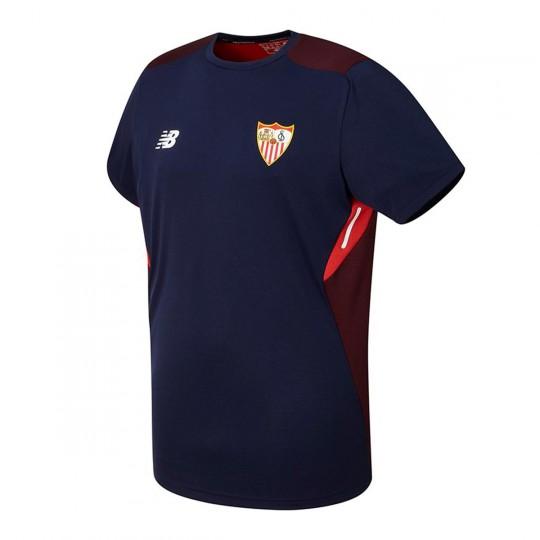 Camiseta  New Balance Sevilla FC MC Training 2017-2018 Azul marino