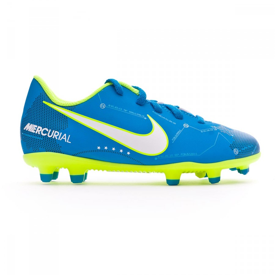 ... Bota Mercurial Vortex III Neymar FG Niño Blue orbit-Armory navy.  CATEGORÍA. Zapatos de fútbol · Zapatos Nike a236bbd0bb5bd