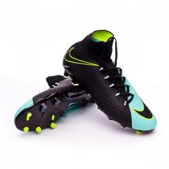 Bota  Nike Hypervenom Phatal III DF FG Ligth aqua-White-Black-Volt
