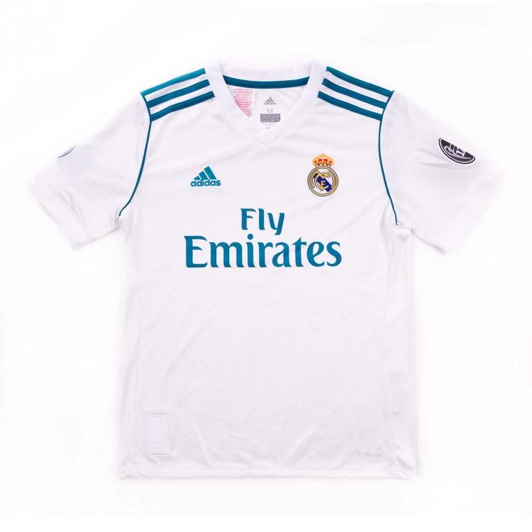 57878c7e8e115 Jersey adidas Kids Real Madrid Home Kit UCL 2017-2018 White-Vivid ...