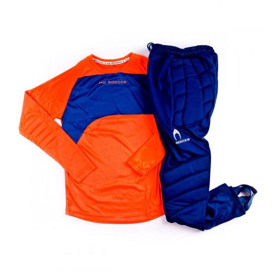 Conjunto  HO Soccer Keeper Premier Niño Orange fluor
