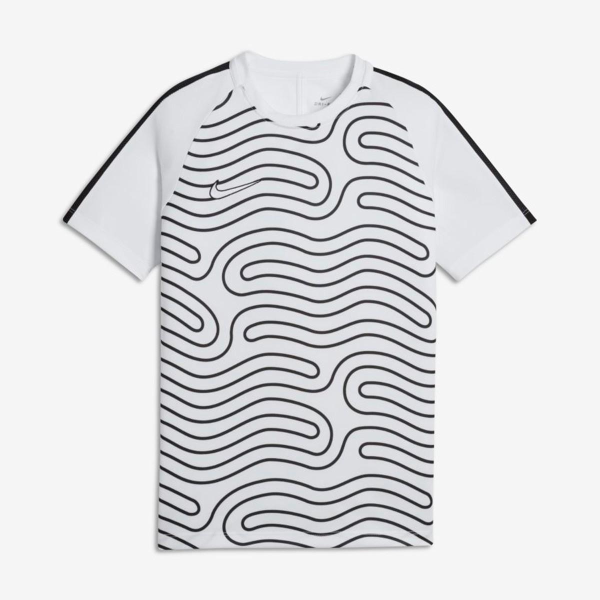 57b7128ab0 Camiseta Nike Dry Academy TopSS GX2 Niño White-Black - Soloporteros es  ahora Fútbol Emotion