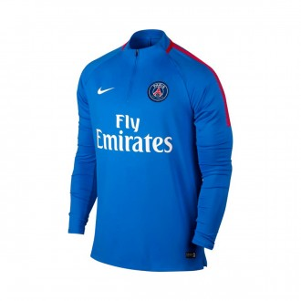 Sweatshirt  Nike Paris Saint-Germain Dry Squad Dril Top 2017-2018 Hyper cobalt-Rush red-White