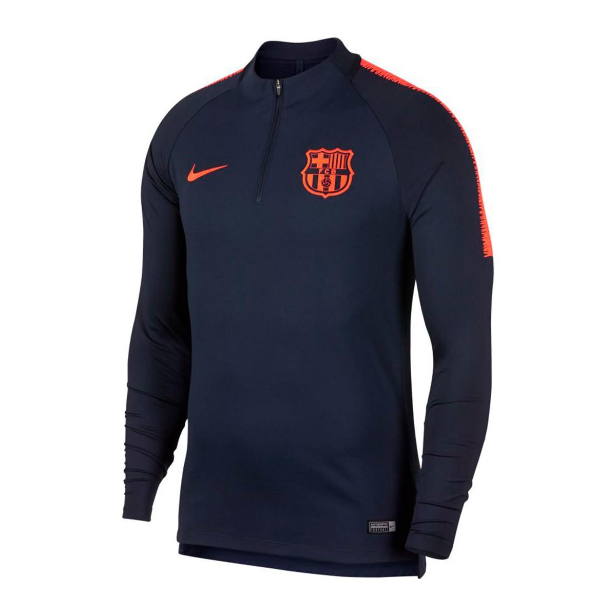 b2c118433e60c Camiseta Nike FC Barcelona Dry Squad Dril Top 2017-2018 Obsidian-Hyper  crimson - Tienda de fútbol Fútbol Emotion