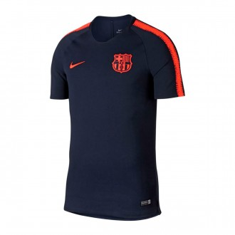Camiseta  Nike FC Barcelona Breathe Squad Top SS 2017-2018 Obsidian-Hyper crimson