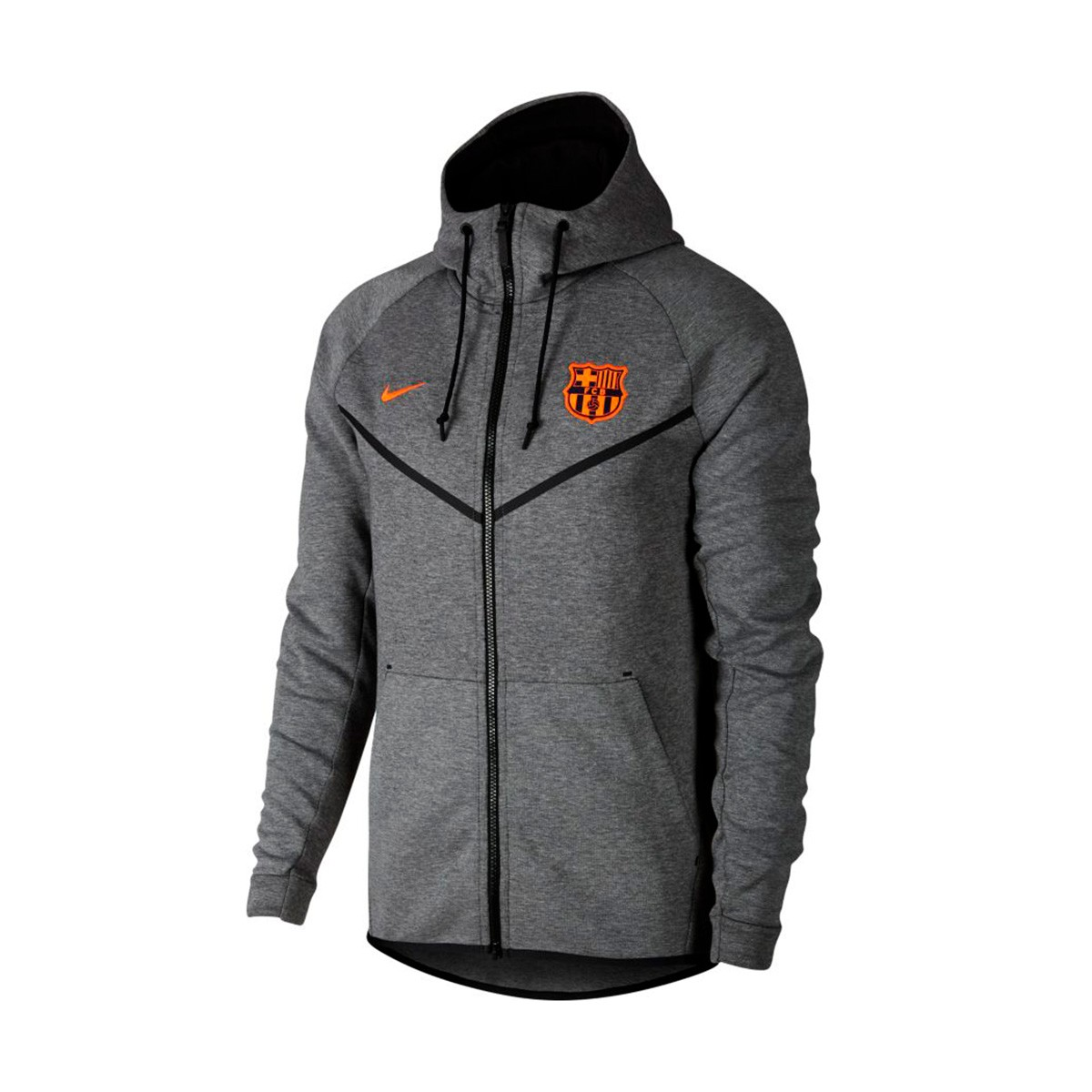 5ffd7679f8133 Chaqueta Nike FC Barcelona NSW 2017-2018 Carbon heather-Hyper crimson -  Tienda de fútbol Fútbol Emotion