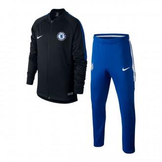 Fato de treino  Nike Chelsea FC Dry Squad Criança 2017-2018 Black-Rush blue-White